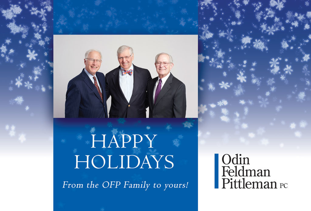 OFP Holiday Card front