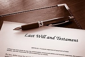 a last will that a couple drafted with the help of a trusts & estates attorney