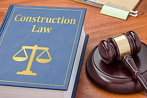construction law book used by a construction attorney